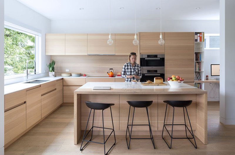 Îlot de cuisine pour maison contemporaine Mid-Block