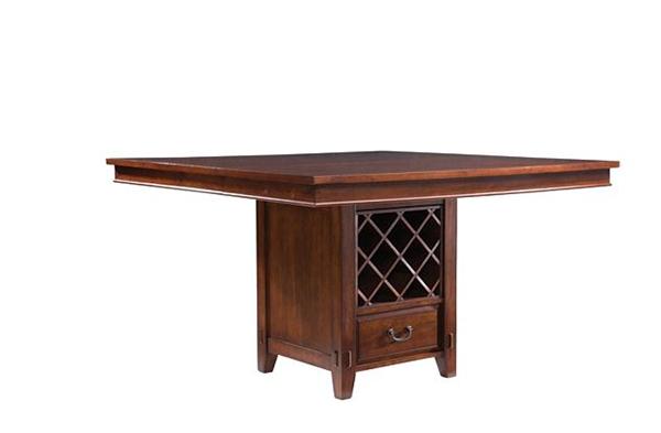 Table de salle à manger à hauteur de comptoir Vantana avec feuille et rangement