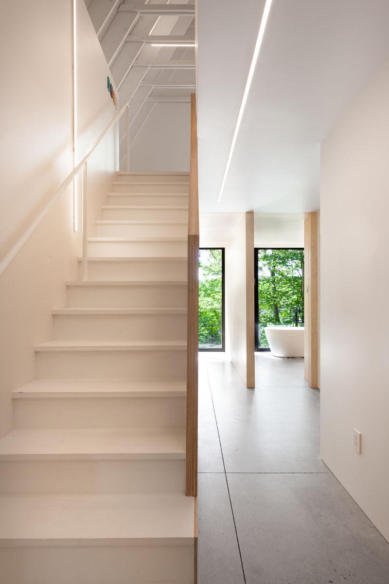 Escaliers de la cabine noire