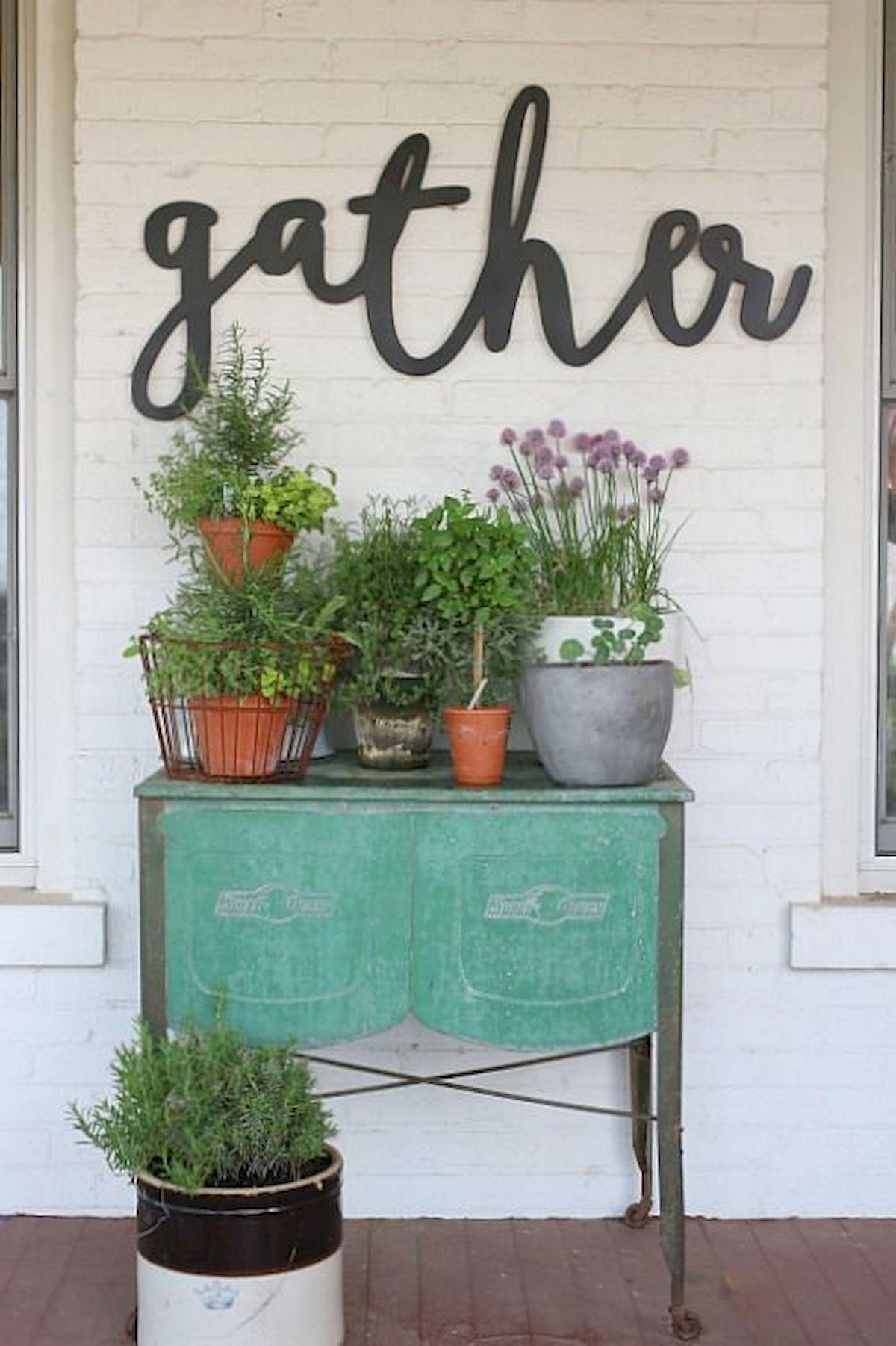 Décor de porche rustique inspiré du printemps