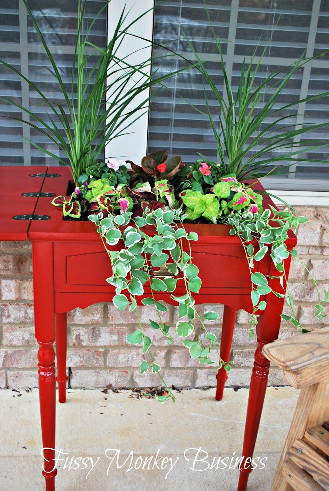 Jardinière d'extérieur Cool Upcycled Table