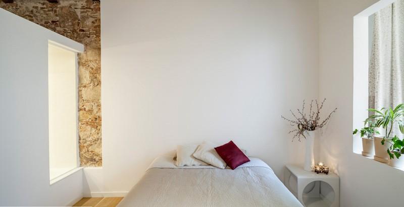 Salle de bain de l'appartement à Barcelone