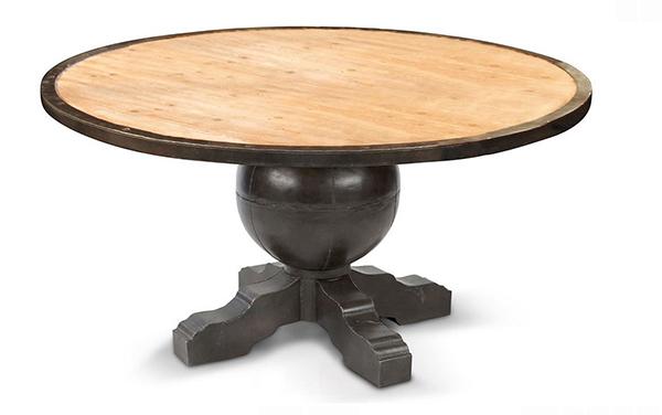 Tables rondes en métal