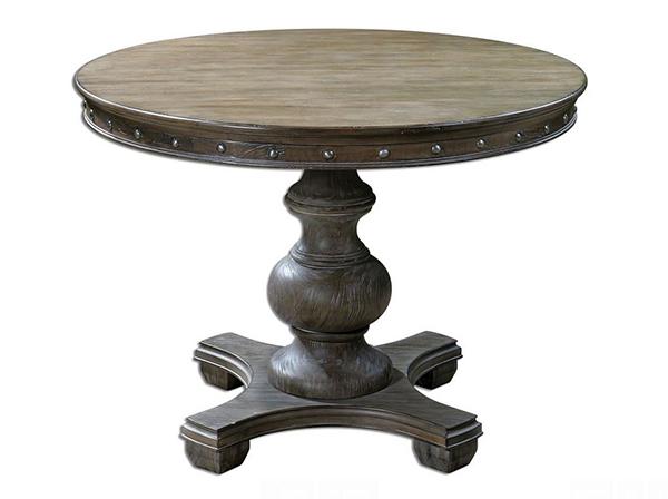 Table ronde en bois Sylvana