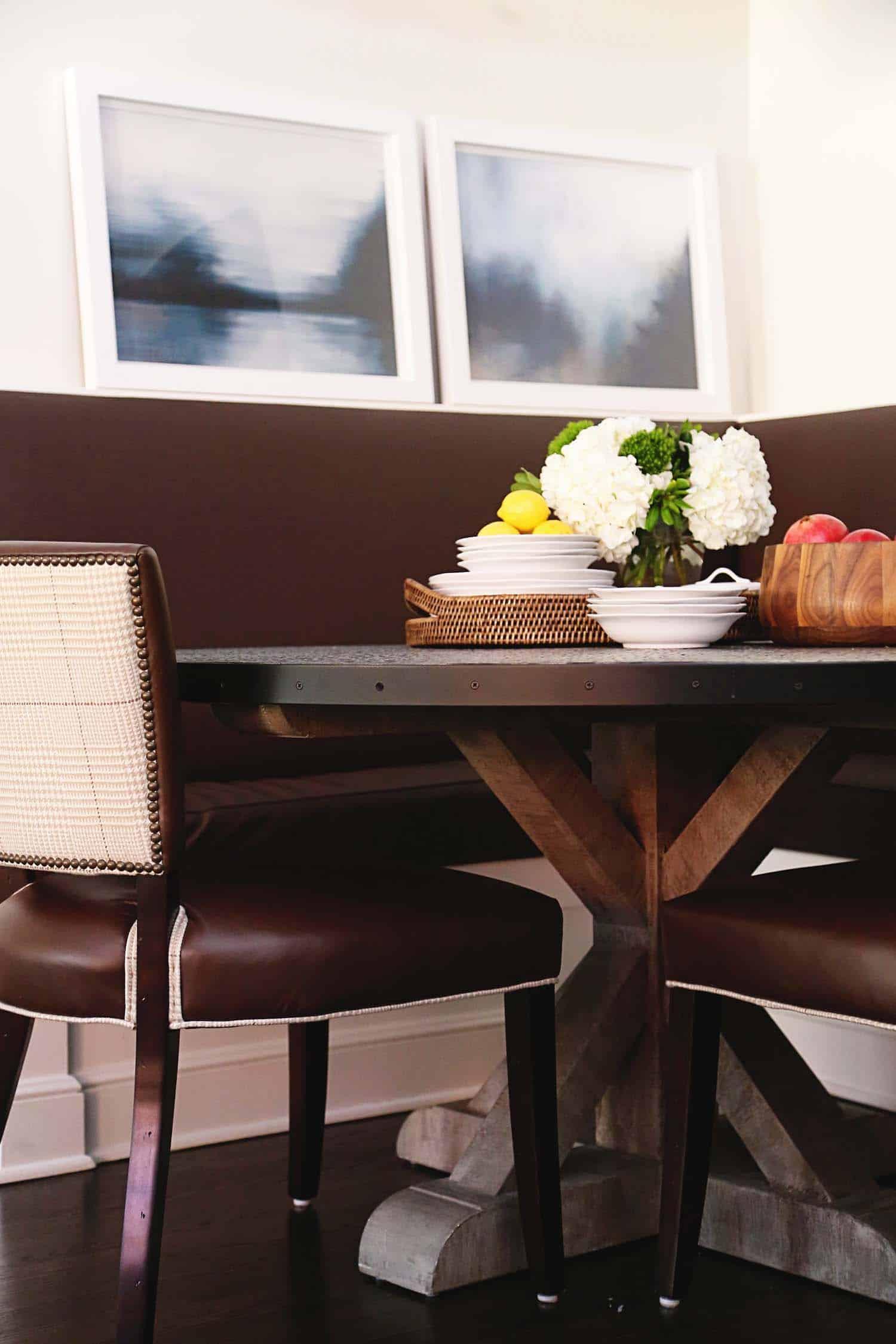 salle à manger de style transitionnel