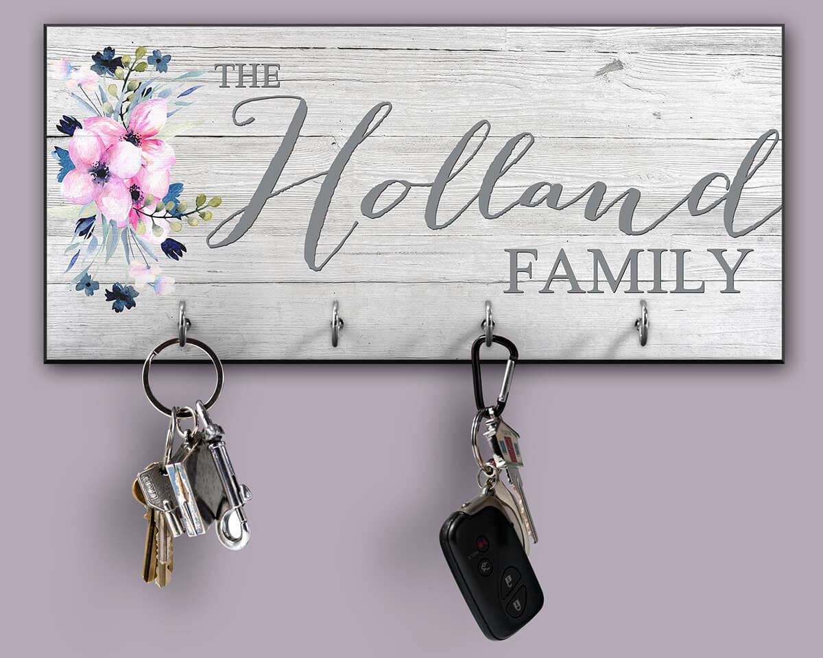 Porte-clés personnalisé avec un look rustique