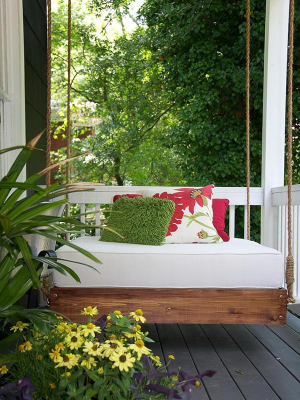 Balançoire de porche relaxante bricolage