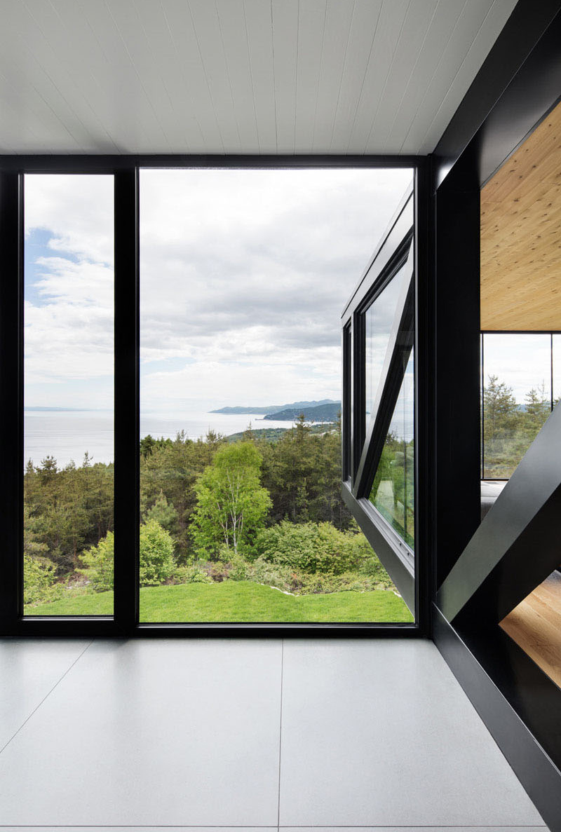 Fenêtres en verre du Chalet Blanche