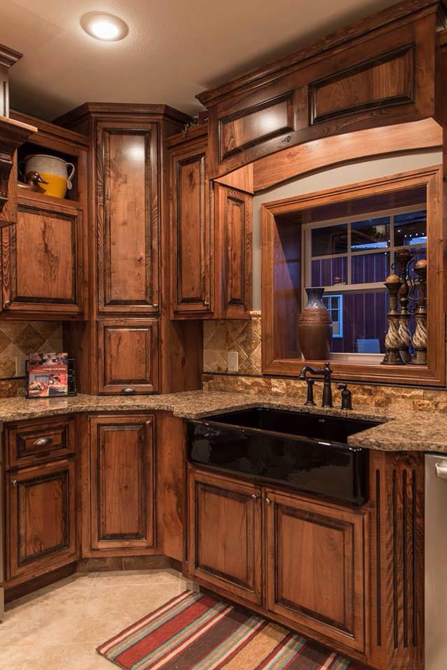 Décor d'armoires de cuisine rustique Aspen Mountain