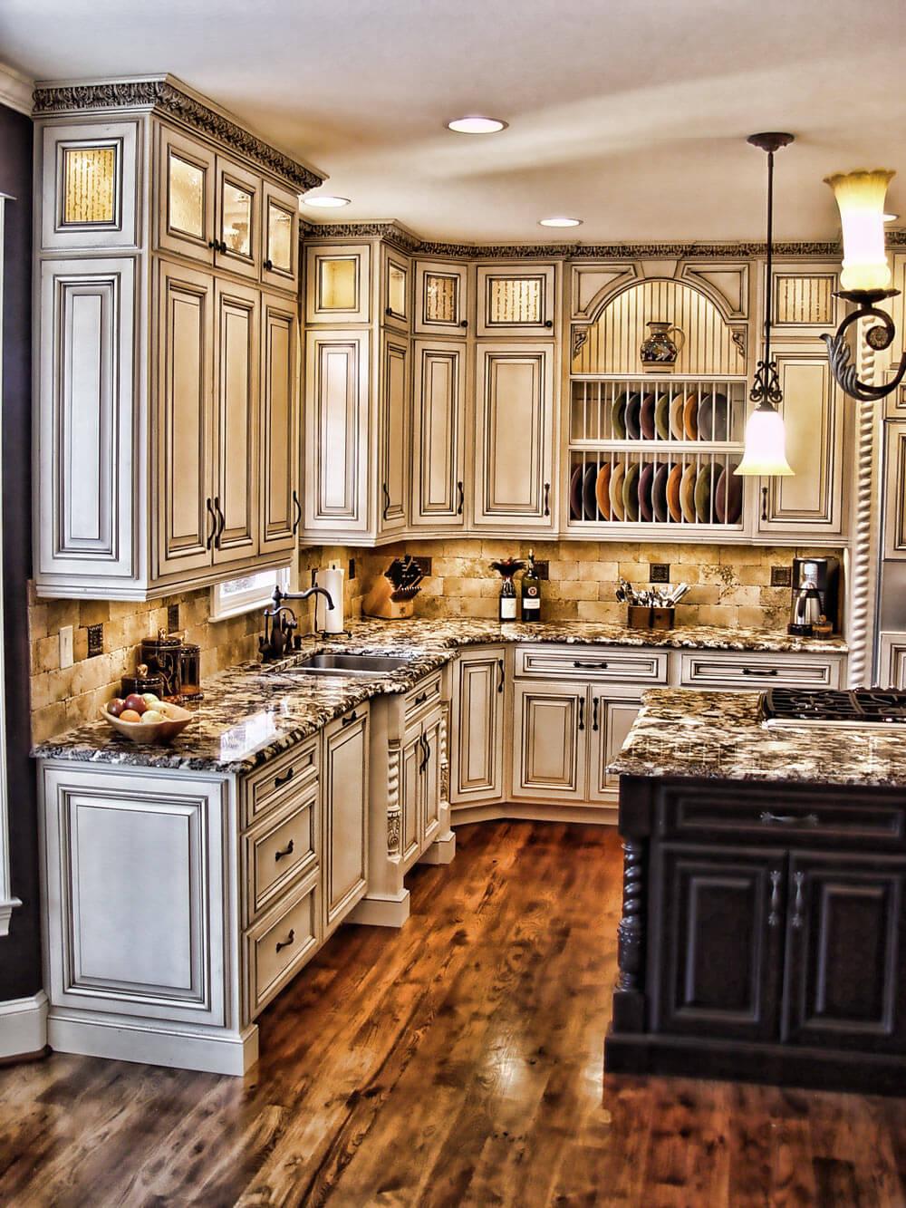 Conceptions d'armoires de cuisine rustiques Maison-Chic