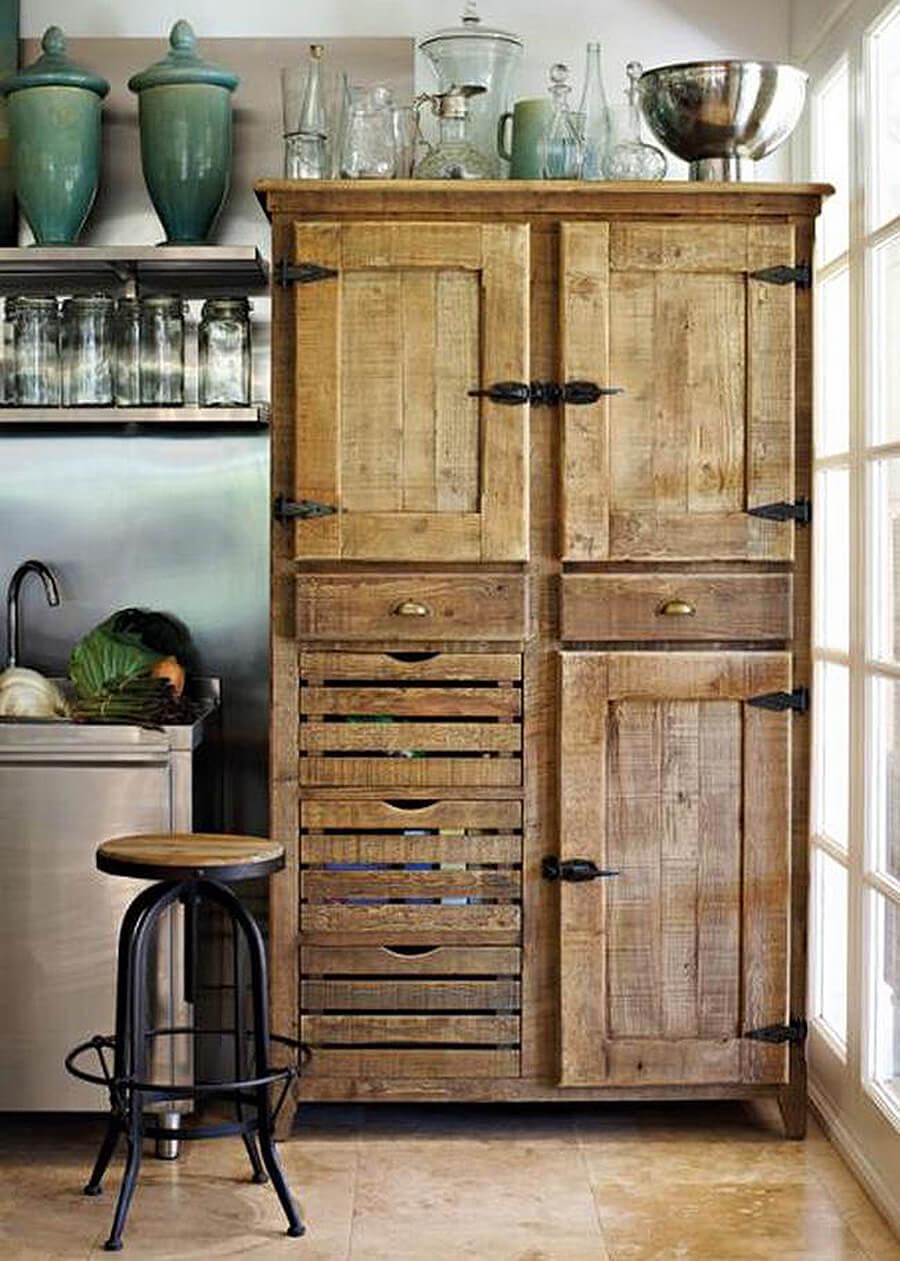 Armoires de cuisine recyclées de quincaillerie antique