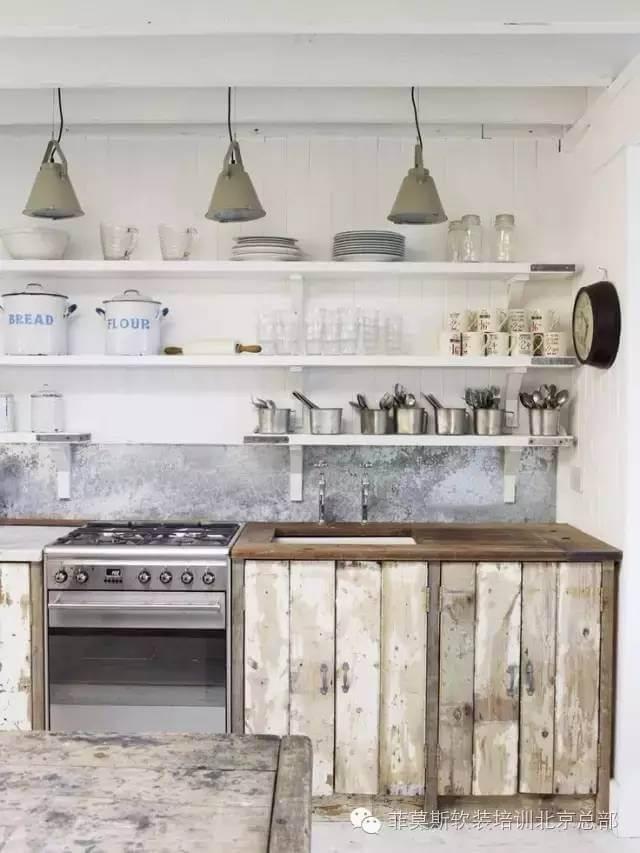 Cuisine de cottage scandinave sur la mer