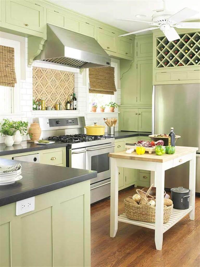 Armoires de cuisine rustiques Key Lime