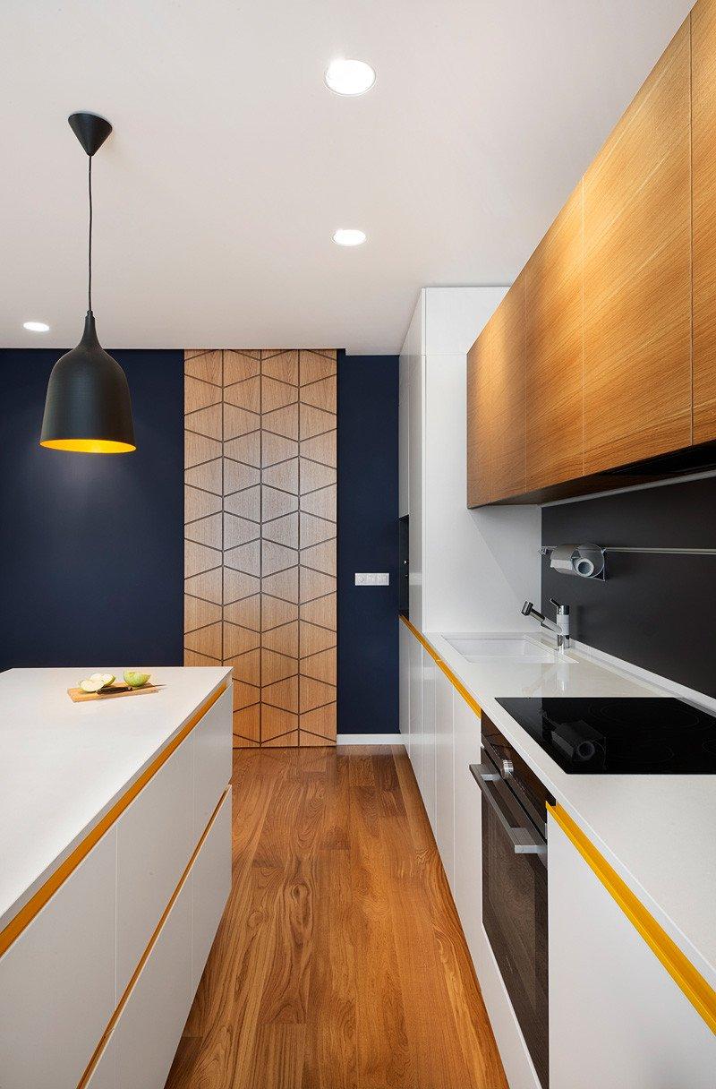 Cuisine d'appartement jaune
