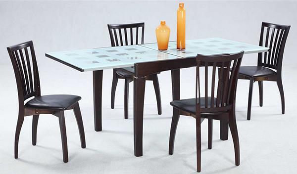 Table en verre givré
