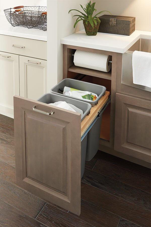 Seaux à ordures de cuisine coulissants sur mesure