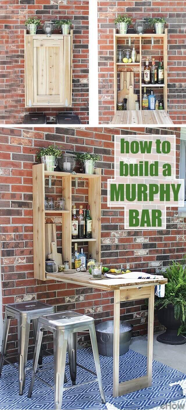 Bar et table murphy d'extérieur bricolage