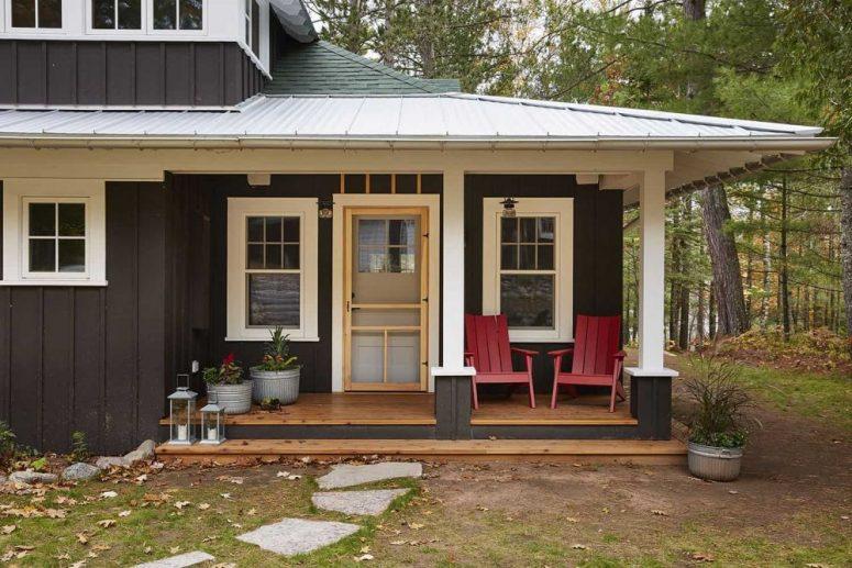 Le confort commence déjà à l'extérieur, regardez ce merveilleux porche