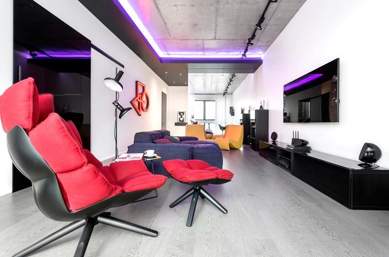 Appartement noir et blanc 3