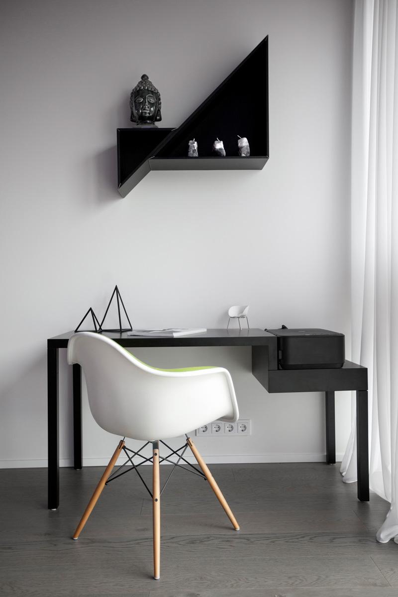 Appartement noir et blanc blanc
