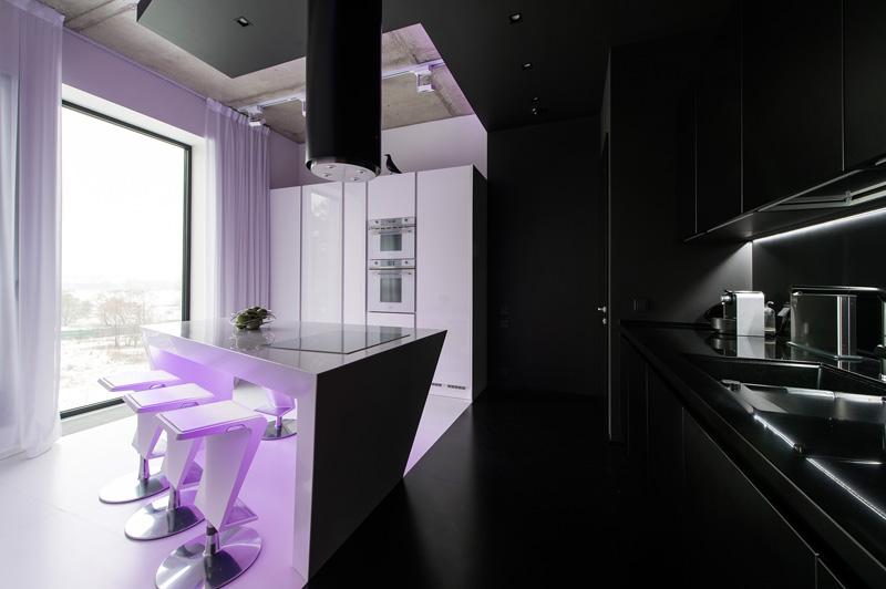 Noir et blanc Appartement noir