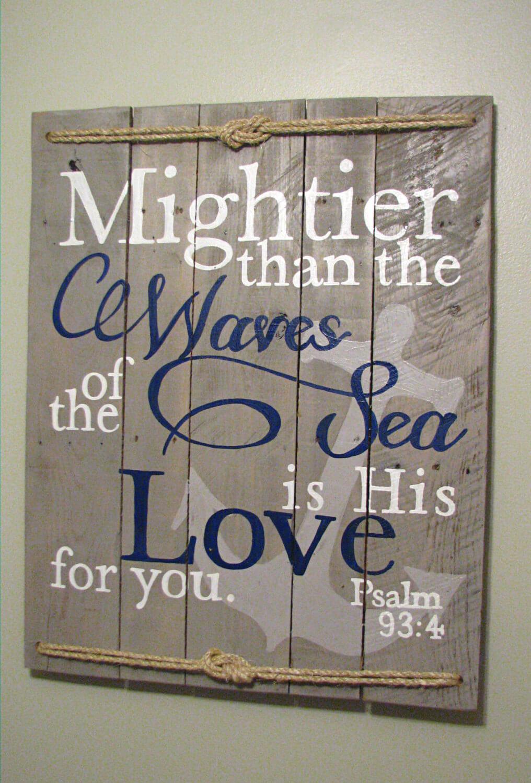 Nautical Psaume 93: 4 Panneau mural
