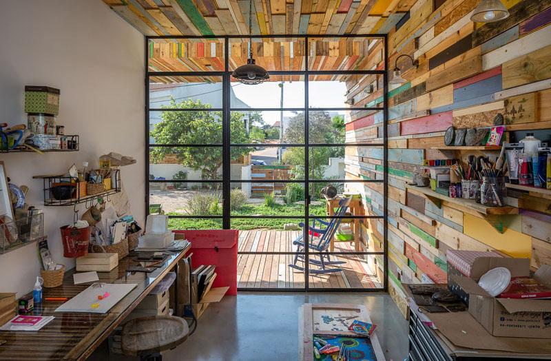 maison ferraille bois art studio