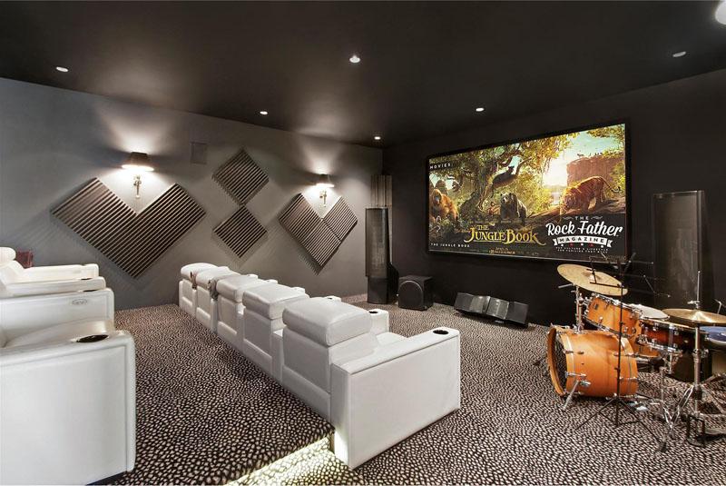 Cinéma maison Hamptons Residence