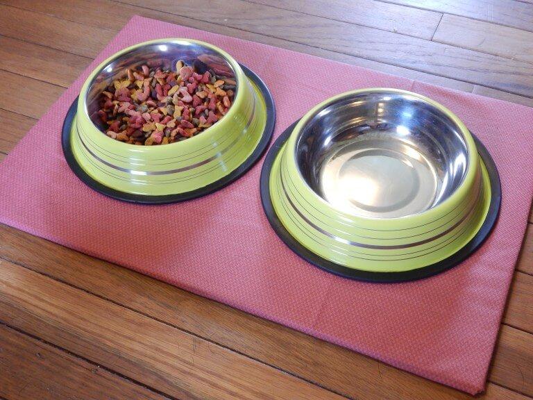 Tapis de nourriture pour animaux de compagnie antidérapant bricolage