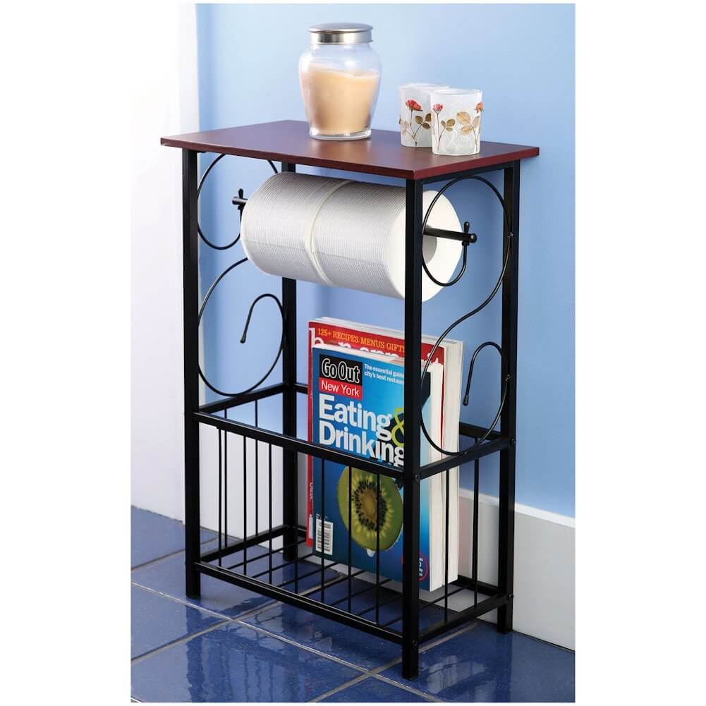Table de salle de bain et porte-revues Scroll Design