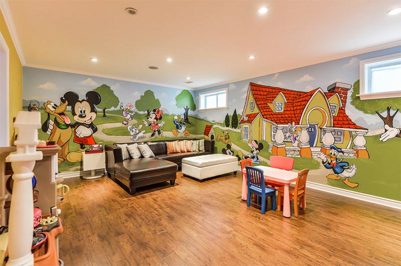 Peinture murale Mickey Playroom, peintures murales de Marg