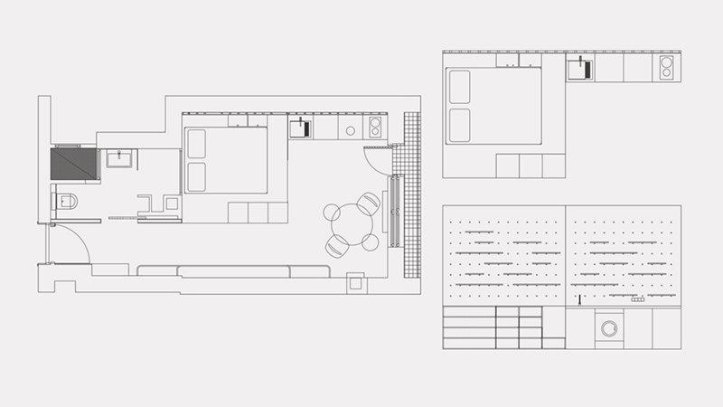 Plan d'étage du petit appartement