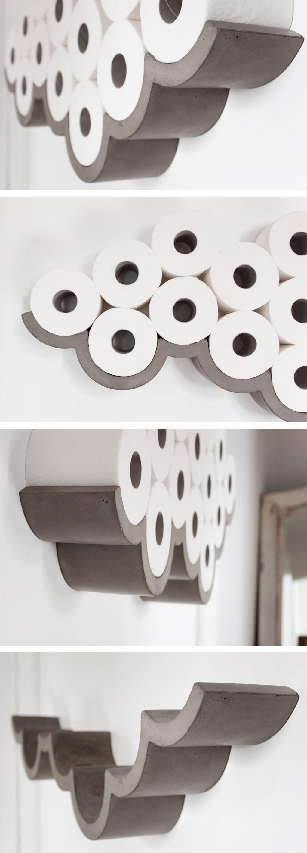 Étagère de nuage de papier de toilette d'art de mur
