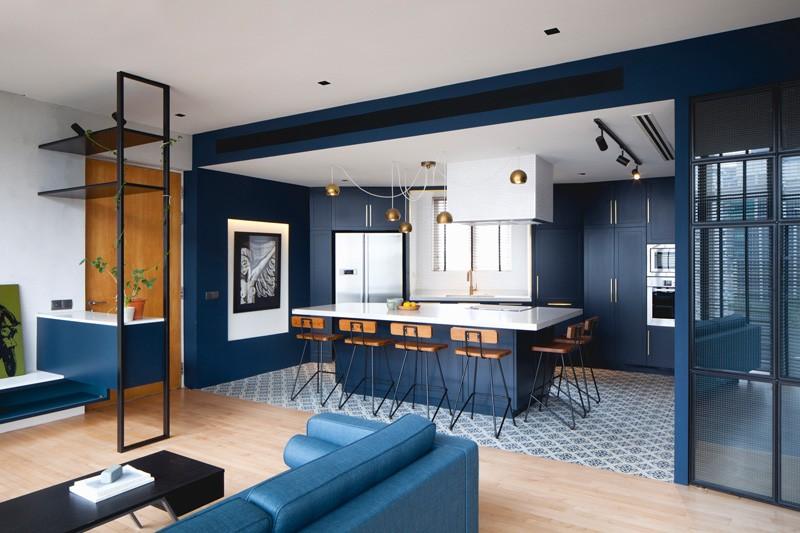 Appartement Bleu Noir