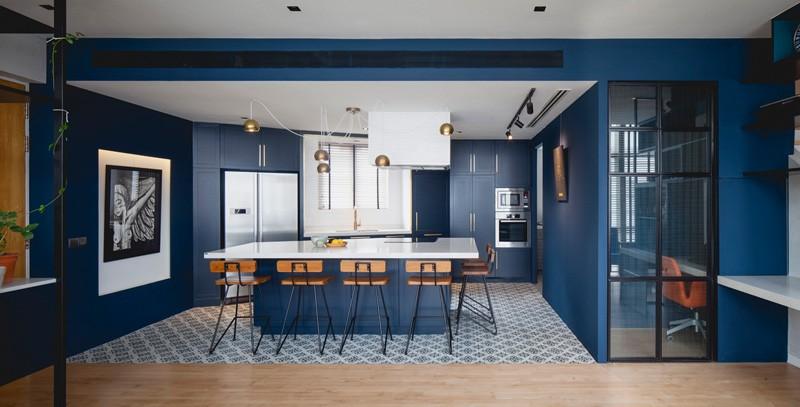 Île Blue Black Apartment