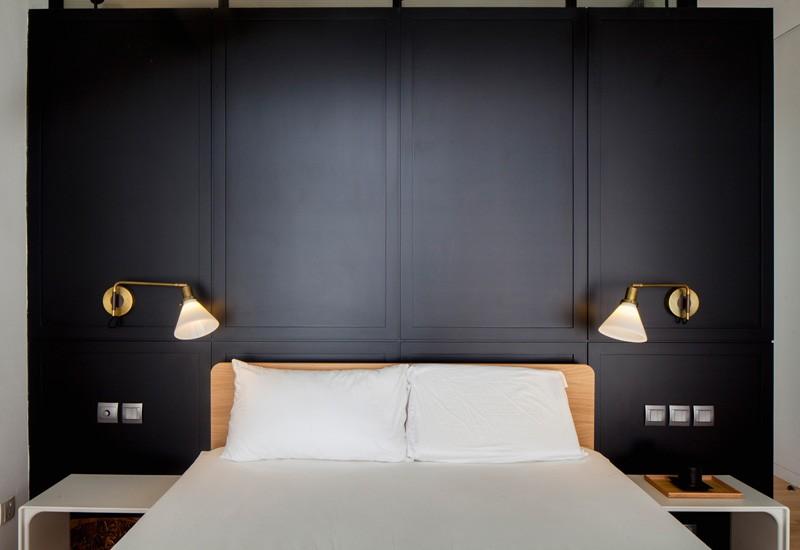 Chambre Appartement Bleu Noir