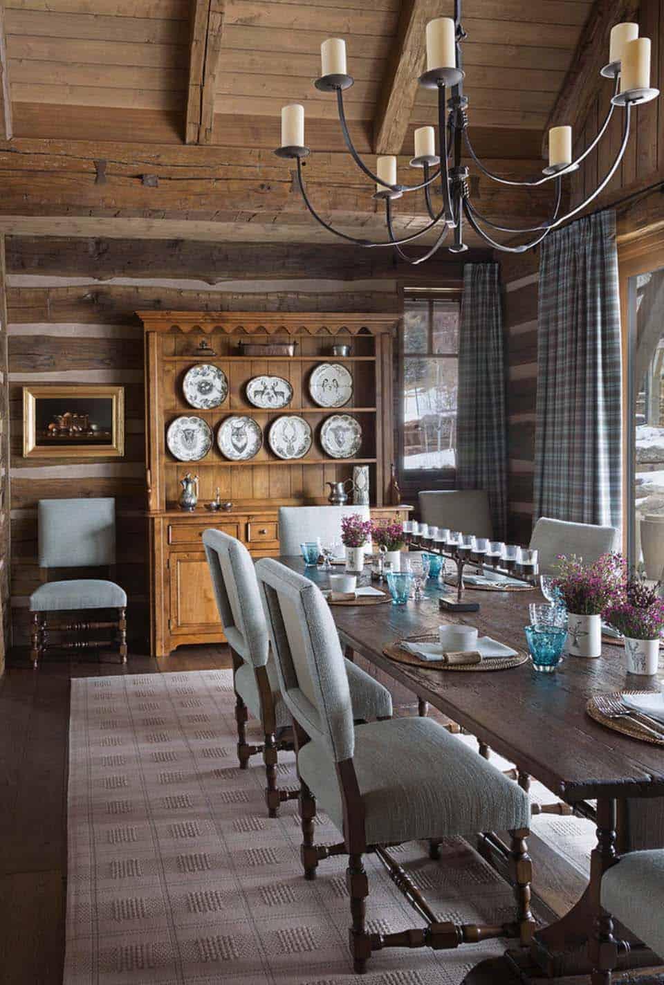 rustique-ranch-maison-salle-a-manger
