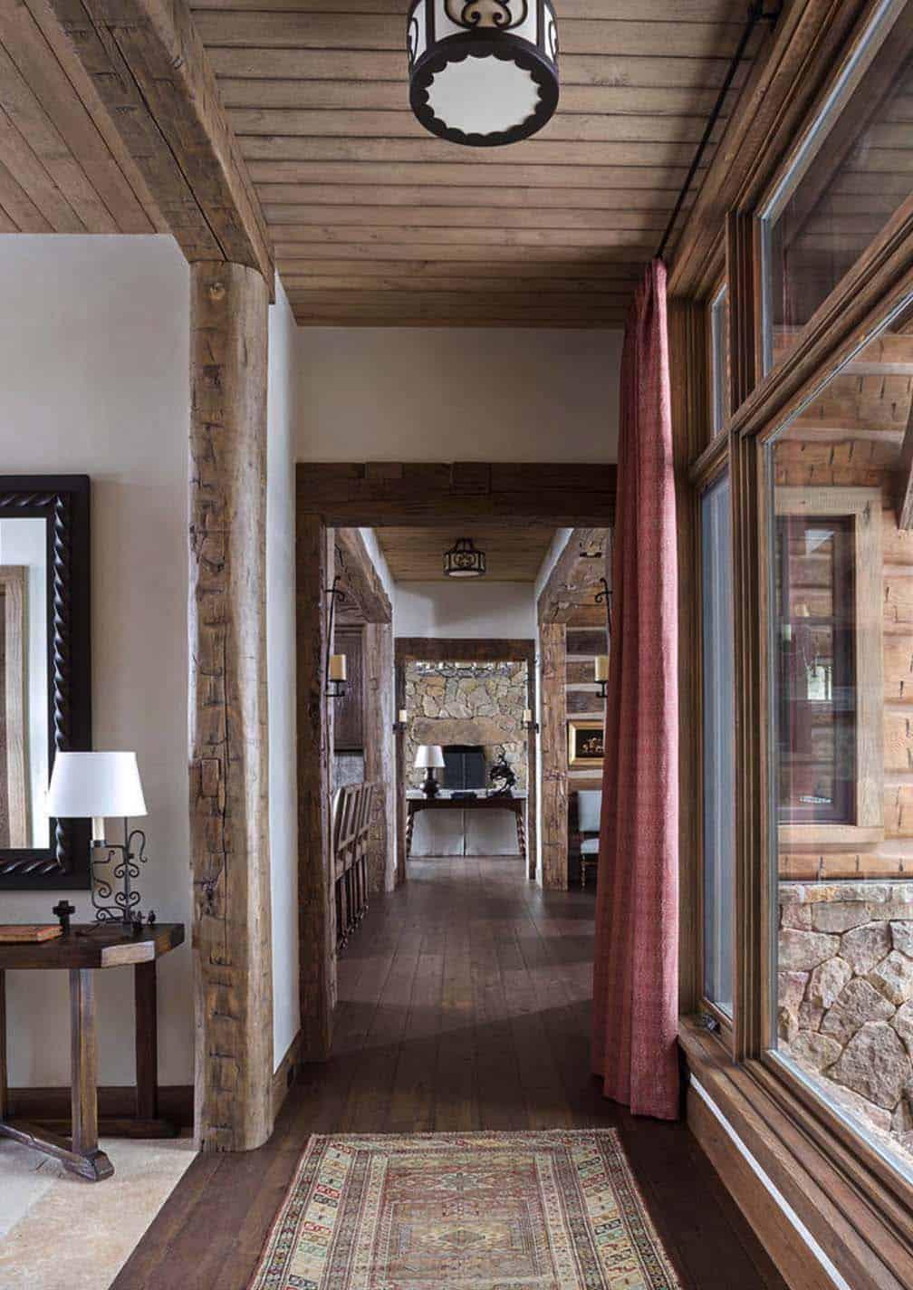 rustique-ranch-maison-hall