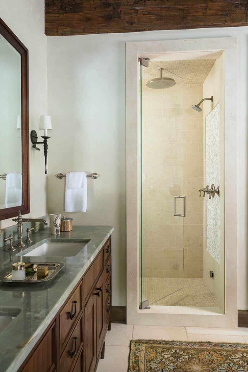 rustique-ranch-maison-salle de bain