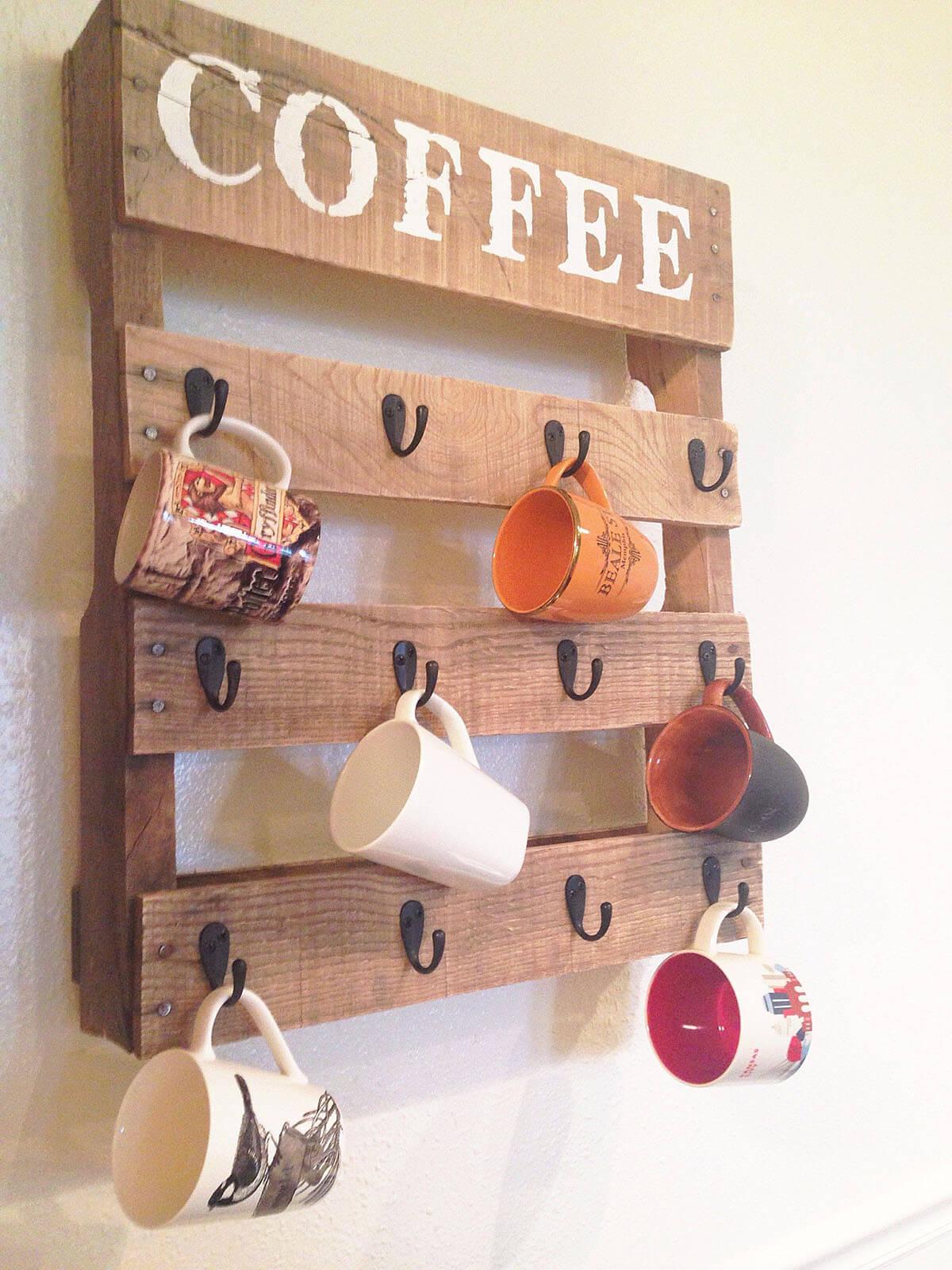Support de tasse à café mini-palette