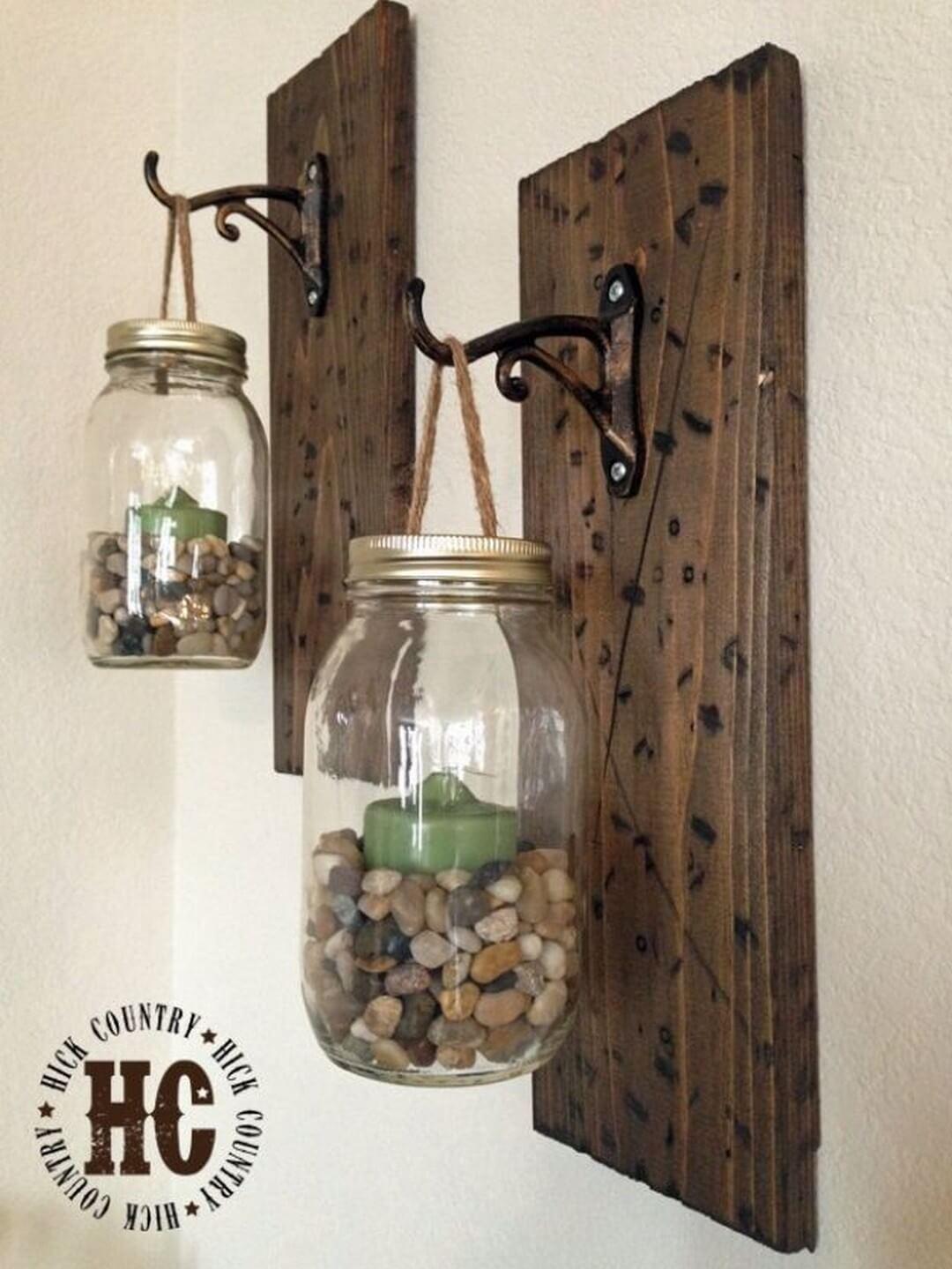 Lampes suspendues à panneau de bois rustique