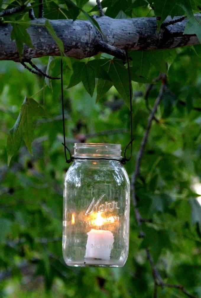 Lampe à suspension d'arbre d'extérieur simple
