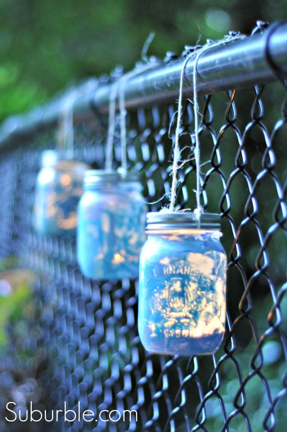 Lampes suspendues métalliques Galaxy Fence