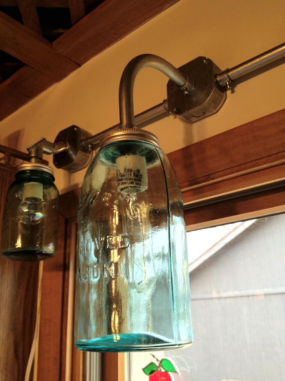 Protecteurs de lumière pour salle de bain Mason Jar