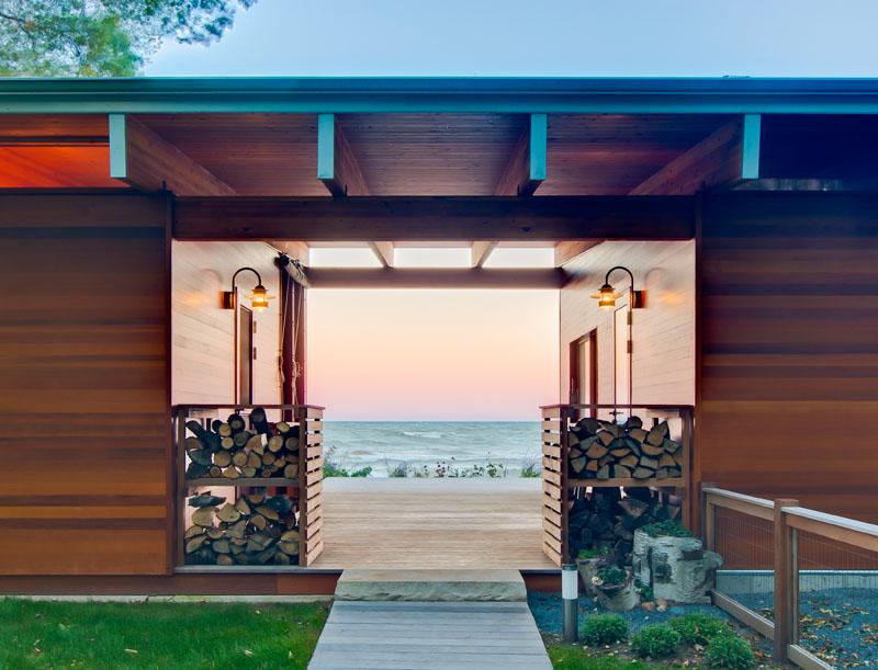 Entrée du Lake Michigan Beach Cottage