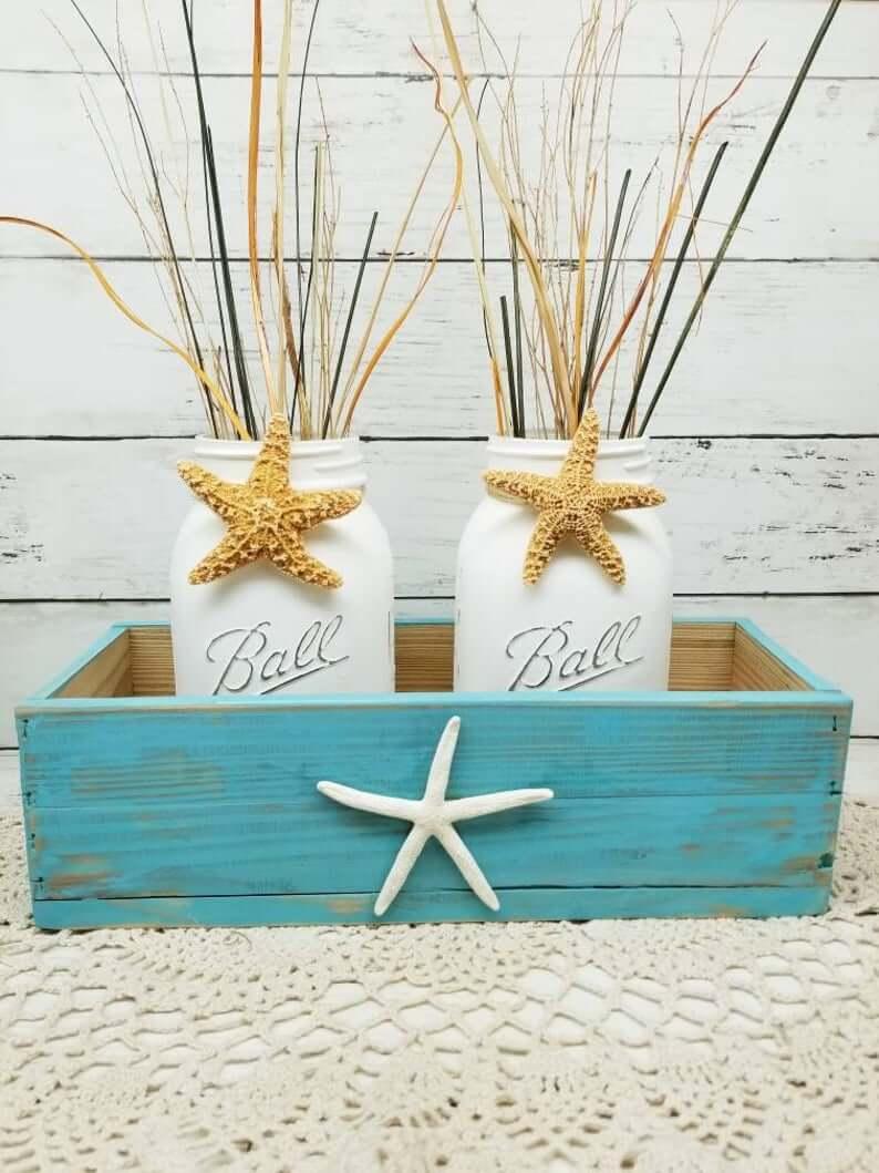 Ensemble de bocaux et de boîtes décoratives Sea Star