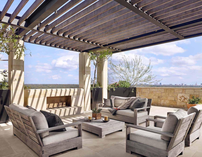 terrasse extérieure de style européen
