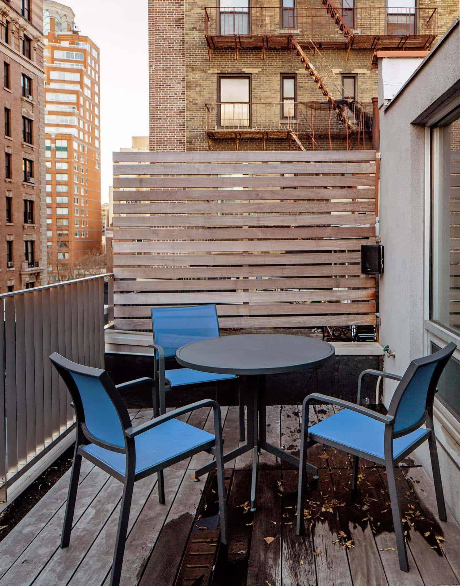 terrasse sur le toit moderne