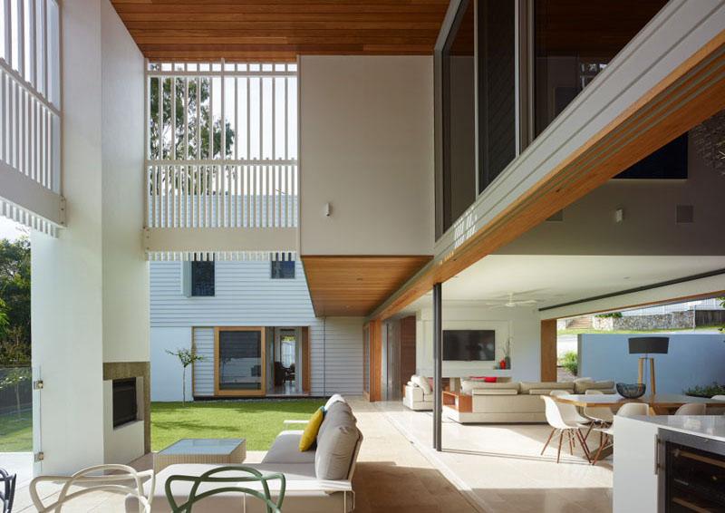 Conception de maison d'angle