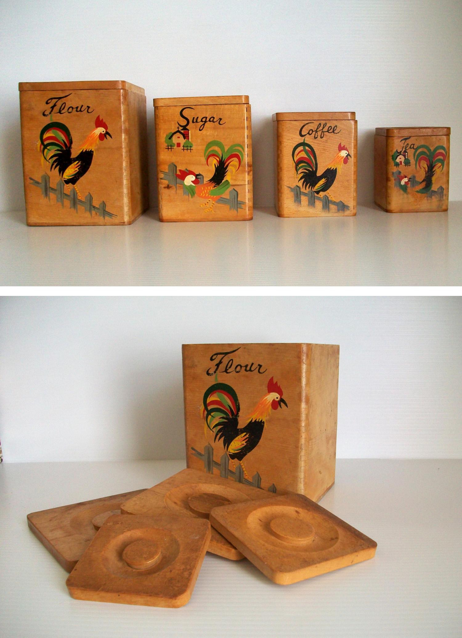 Boîtes en bois vintage